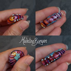 """Flower Focal Bead • <a style=""""font-size:0.8em;"""" href=""""https://www.flickr.com/photos/37516896@N05/8027519396/"""" target=""""_blank"""">View on Flickr</a>"""