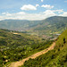Paesaggio al nord di Medellin verso l'Alto de la Virgen
