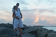 (DonDré) Tags: blue light white color colour beach canon parents couple photoshoot father mother pregnancy husband pregnant belly maternity barbados wife bajan barbadian 2470f28l dondre