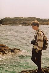 Sea rocks (Frozen-lungs1) Tags: sea portrait holiday vintage photography coast seaside devon analogue filmcamera filmphotography