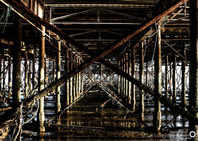 Under South Parade Pier Southsea.