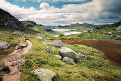 Sirdalsheiane Plateau (Youronas) Tags: mountain lake mountains nature norway landscape norge rocks path natur norwegen hills highland mountainlake bergsee landschaft ryfylkeheiane sirdalsheiane sestesdalvestheiryfylkeheiane
