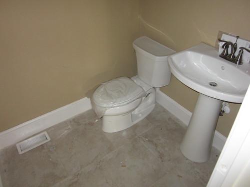 house bathroom sink plumbing toilet delta faucet powderroom deltalinden