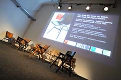 photoset: SKICA: Niko Kralj. Der König der Stühle (Eröffnung, AzW, 3.10.2012)