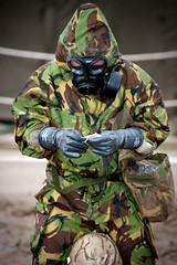 121003-A-3994P-007 (HQ Allied Rapid Reaction Corps) Tags: uk training soldier army cornwall rehearsal management situation nato decontamination nrf respirator publicaffairs rafstmawgan jointtraining cbrn chemicalsuit arrc promask natoresponseforce alliedrapidreactioncorps s10respirator exercisenobleledger arrcsptbn