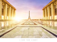 I see the Light - Paris (Beboy_photographies) Tags: paris sunrise de soleil tour lumière eiffel musée toureiffel palais théatre trocadero hdr lever matin leverdesoleil chaillot trocadéro