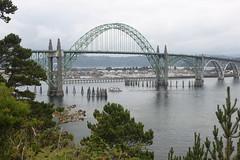 The Yaquina Bay Bridge in Newport, Oregon (Hazboy) Tags: ocean bridge vacation usa west oregon america bay coast us pacific northwest september ponte newport shore western coastline 2012 yaquina hazboy hazboy1