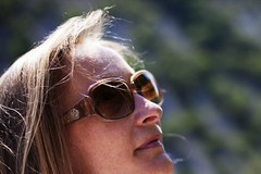 family matters (Pat de T.) Tags: travel portrait woman green sunglasses canon provence dslr banon