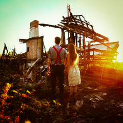 we built our foundation of cinders... (Kindra Nikole) Tags: house black broken couple decay empty burnt clasp shambles cinder smoulder