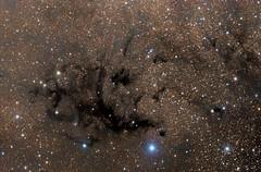 LDN673 - Lynd's Dark Nebula in Aquila (Manifest Stephanie) Tags: dark nebula ldn673 ldn 673 night sky astrophotography table mountain star party televue tele vue qsi qhy takahashi np101 aquila astrometrydotnet:id=nova1679373 astrometrydotnet:status=solved