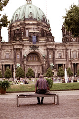 (georgiasewell15) Tags: berlin analogue 35mm canon city lustgarten people cathedral summer evening nature landscape cityscape