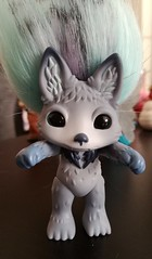 howlie (meimi132) Tags: zelfs zelf series6 cute adorable trolls howlie grey wolf dog paws