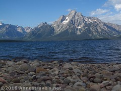 32 Mt. Moran from the Lakeshore Trail (Anne's Travels) Tags: wyoming grandtetonnationalpark lake jacksonlake mtmoran tetons beach