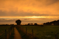 Stormy Sunset - Aug 2016 (Zoe K Williams) Tags: sunset sky storm wales welsh uk clouds weather coast country countryside