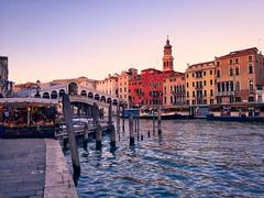 Rialto sunset - iPhone (Jim Nix / Nomadic Pursuits) Tags: iphone snapseed travel europe italy venice rialto bridge sunset