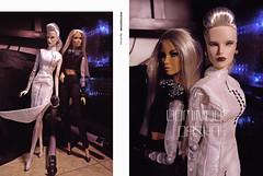 Dasha & OOAK Dominique / Cyborg sisters (Ray Grimes) Tags: doll fashion fashiondoll fashionroyalty lady toys flickr cyborg sisters fr2 nuface