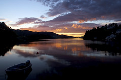 Sunset over the fjords (bentatlow) Tags: sunset dusk clouds colours long exposure fjord lake water sea ocean calm norway