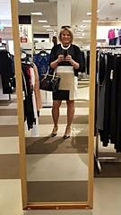 Color Block Dress (krislagreen) Tags: tg tgirl transgender transvestite cd crossdress dress hose highheels patent purse femme feminized feminization