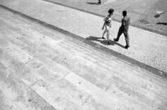 nice to meet you (petros.terra) Tags: 35mm film filmphotography minolta rokkor 28mm ilford fp4 streetphotography urban people brasil rio sp portrait face friends bw blackandwhite