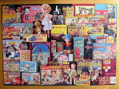 1950s Toy Box Memories (pefkosmad) Tags: jigsaw puzzle leisure pastime hobby memory memories nostalgia childhood 1000pieces 1950s growingup toys gibsons complete