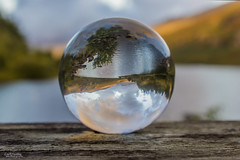 Its an Upside Down World (Carl Yeates) Tags: canon550d snowdon capelcurig mountains sunrise glassball upsidedown clouds water cloud sky