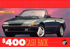 1993 Mercury Capri (aldenjewell) Tags: 1993 mercury capri postcard ford australia lincolnmercury dealers