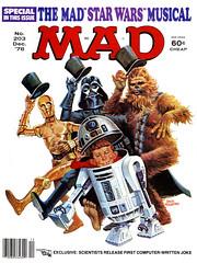 Mad #203 (1978), cover by Jack Rickard (Tom Simpson) Tags: mad 1978 cover jackrickard madmagazine illustration starwars r2d2 artoo threepio c3p0 darthvader chewbacca 1970s art
