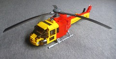 Lifesaver 36 (1) (LonnieCadet) Tags: lego helicopter heli life lifesaver 36 victoria australia emergency rescue eurocopter as350 squirrel saving aquatic 2016 moc custom brick technique