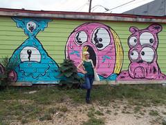 BIRTHDAY 0937 (RANCHO COCOA) Tags: graffiti streetart atlanta georgia missy donut doughnut bulldog mural