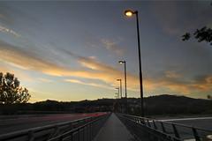 ponte di Fornovo (Max Short) Tags: bridge ponte sunset dawn river fornovo parma italy macchine macchina car cars lampioni light nuvola nuvole cloud clouds
