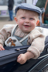 262/366: Happy chappie (judi may) Tags: 366the2016edition 3662016 day262366 18sep16 boy 1940s fortiesweekend sheringham norfolk pram cute sweet happy smiling portrait canon7d 50mm