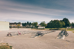 What a shame | 270/366 (emrold) Tags: 26sep16 366the2016edition 3662016 day270366 fuji400h orleans ottawa vsco vscofilm06 bicycles depressing school shame suburbs appleiphone6s iphone6sbackcamera415mmf22 missedopportunities