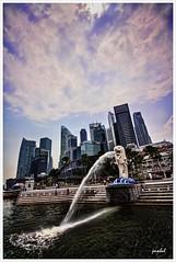 Marina Bay - Singapore (Jas Mahal) Tags: nikon singapore cityscape filter adobe merlion topaz lightroom adjust cs5 nikond3 nikon1635mmf4 hiitech ronin237