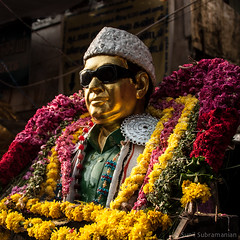 MGR - Gold Star (sunil.subramanian) Tags: people india streets color nikon photos madras markets mornings chennai 28300mm sights sites psm photowalks chintadripet nikond90 thechennaiphotowalk