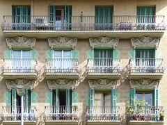 Windows and Balconies Passeig de Sant Joan (Atelier Teee) Tags: barcelona window balcony wroughtiron portal catalunya modernisme fenetre passeigdesantjoan atelierteee terencefaircloth floralornamentation