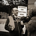 Tommy Donnellan interviewing Jim Roche  PRO Steering Committee IAWM at Dail Eireann.