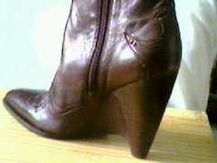 detail boots (ak-move) Tags: brown cowboy shoes boots chocolate casual cowgirl bcbg wedge ankleboots shortboots size95