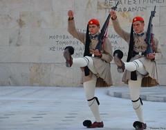 """Evzones"" Presidential Guard, Athens ,Greece (Pensioner Percy) Tags: travel vacation nikon athens greece soldiers streetscenes azura p0 syntagmasquare evzones presidentialguard blackseacruise d5100 poazura nikon18105lens flickrtravelaward nikond5100"