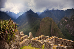 Machu Picchu Walls (fesign) Tags: travel summer mountain plant tourism peru southamerica nature inca stone forest landscape ancient hiking south steps sunny nobody ridge journey valley andes civilization spirituality cloudforest machupicchu past cloudscape precolumbian incatrail lostcity famousplace placesofinterest internationallandmark theamericas worldsgreatwonders