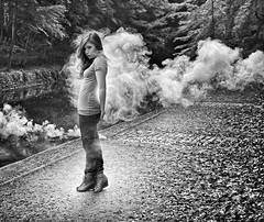 Angel Ghost (Ben Heine) Tags: light wild blackandwhite woman inspiration art texture nature girl beauty leaves fashion shirt mystery forest river photography death wings artwork model belgium drawing dramatic explore health fantasy photoediting intriguing hallucination canon5d lonely concept grayscale wish moment conceptual capture drama tones postproduction mystic timeless fort feuilles fantme hypnosis passivesmoking fumes fume modle smokebomb lensblur mystre fumigne benheine angelghost carolinemadison