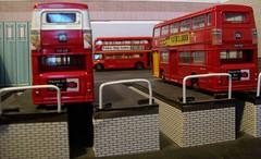 Inspection pits diorama (kingsway john) Tags: kingsway models diorama 176 scale card model efe london transport bus museum transportfest dms routemaster londontransportmodel oo gauge miniature