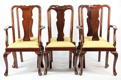 30. Set of (6) Queen Anne style Dining Chairs
