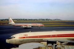 TWA 707 N798TW 1971 (Rudy Chiarello) Tags: boston airport aircraft aviation rudy loganairport boeing logan airlines americanairlines bos twa airliners chiarello boeing707 transworldairlines kbos vintageaviation rudychiarello
