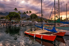 One Morning Lahiana Harbor (mojo2u) Tags: morning sunrise hawaii harbor maui lahaina lahainaharbor nikon2470mm nikond700
