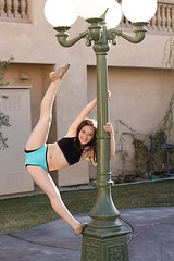 hanging on for dear life (alissa.rose.phtography) Tags: tiara lamp dance holding post good unique leg second technique hold