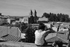Fotografando Toledo (ALMartino Fiero del mio sognare) Tags: travel bw panorama photo spain flickr bn espana toledo viaggio spagna almartino lamanca