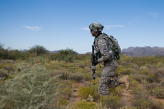 Iron scouts train (The U.S. Army) Tags: training soldier us military nm patrol usarmy wsmr fortbliss 1starmoreddivision 1stbattalion 2ndbrigadecombatteam 6thinfantryregiment networkintegrationevaluation nie131 ironbrigadesoldiers