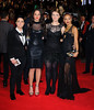 Jade Ellis, Tulisa Contostavlos, Ella Henderson and Lucy Spraggen James Bond Skyfall World Premiere held at the Royal Albert Hall- London