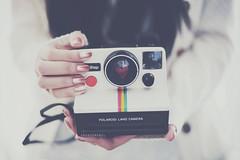 (Amanda Mabel) Tags: camera pink light white selfportrait closeup vintage lens polaroid photography hands focus heart strap iloveyou polaroidsx70 onestep polaroidlandcamera bronzenailpolish amandamabel amandamabelphotography