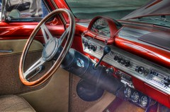 Interior Beauty (podolux) Tags: ford car nikon interior dashboard nikkor carshow steeringwheel 2012 carinterior countrysquire postprocessing photomatix classiccarshow countrysquirewagon d5100 october2012 nikond5100 nikkordx1855vr photomatixformac